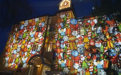 Karácsonyi fényfestés a Bethesdában