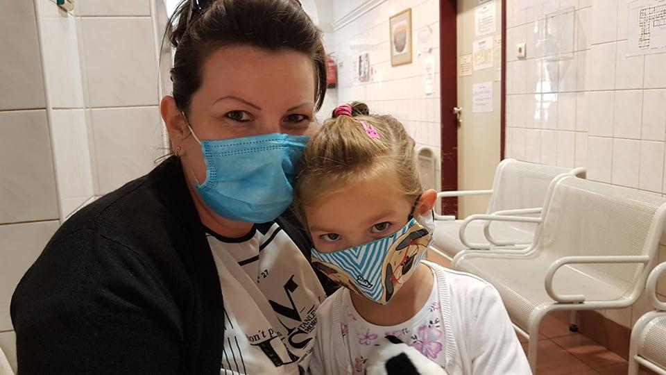 Szűlő gyermekkel a Bethesda Gyermekkórházban
